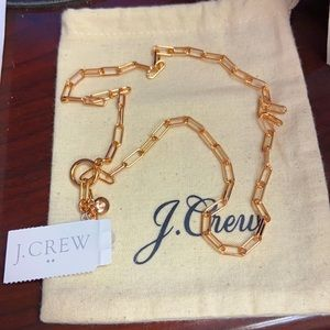 J crew ladies Rose Gold necklace NWT